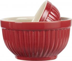 Mynte Set med keramikskålar röd - mini 3 st - Hus-modern.se
