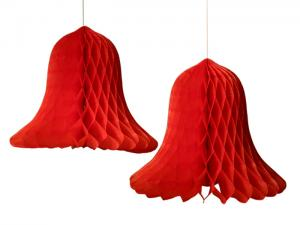 Honeycomb klocka röd 2 pack - Hus-modern.se