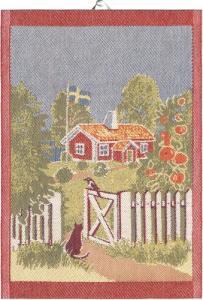 Ekelunds Linneväveri Diskhandduk Mitt Sverige - Hus-modern.se