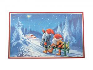 Julbonad tomtar tittar på stjärna - Hus-modern.se