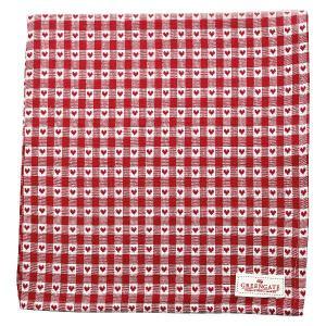 Julduk-Bordsduk röd med småhjärtan 145x250 cm - Hus-modern.se