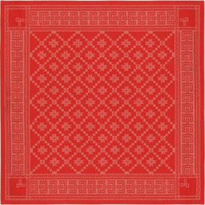 Duk Åttebladsros röd 80 x 80 cm - Hus-modern.se