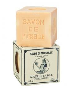 Marius Fabre Tvålkub Marseilletvål vit 400 g - Hus-modern.se