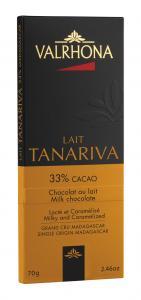 Valrhona Tanariva 33% mjölkchokladkaka 70 g - Hus-modern.se