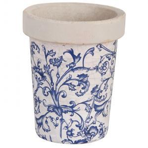 Keramikkruka åldrad keramik blå - Hus-modern.se