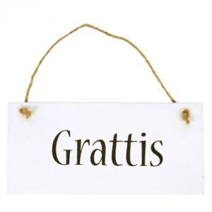 IB Laursen Träskylt Grattis - Hus-modern.se