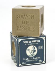 Marius Fabre Tvålkub Marseilletvål Grön 400 g - Hus-modern.se