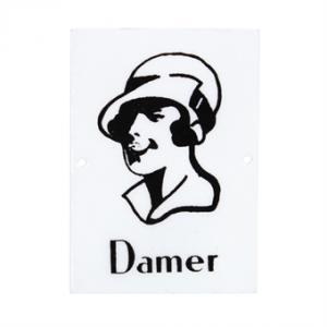 Emaljskylt Damer - Hus-modern.se