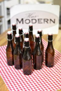 12 st flaskor brunt glas á 1 liter - Hus-modern.se