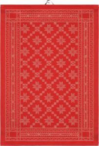 Handduk Åttebladrose Röd - Hus-modern.se
