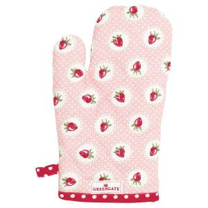 GreenGate Grillhandske Strawberry pink - Hus-modern.se