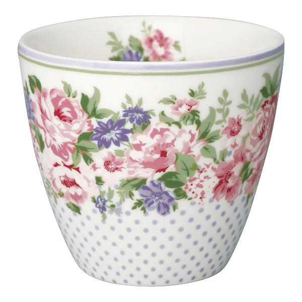 GreenGate Lattemugg Rose white - Hus-modern.se